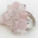 Classic Design Assorted Rose Quartz Adjustable Ring