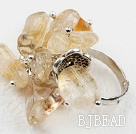 Classic Design Assorted Citrine Adjustable Ring
