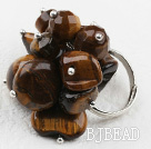 Classic Design Assorted Tiger Eye Adjustable Ring under $ 40