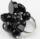 Classic Design Assorted Black Agate Adjustable Ring under $ 40
