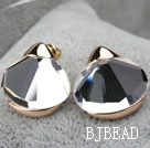 Fashion Style Immitation Gemstone Rhinestone Gold Plated Hypoallergenic Oversized Studs Earrings