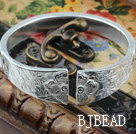 Big Style Sterling Silver Bangle (With the Pattern of Plum Blossom, Bamboo and Chrysanthemum )