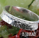 Big Style Sterling Silver Bangle (With the Pattern of Different Flower )