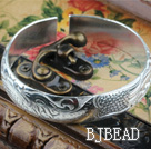 Classic Design Sterling Silver Bangle (With the Pattern of Phoenix and Peony )