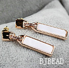 Fashion Style Zipper Shape Rhinestone Gold Plated Hypoallergenic Studs Earrings