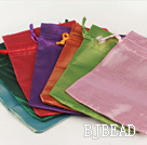 Multi Color Bright Surface Immitation Yarn Jewelry Bags (100 pcs color random)