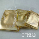 3 sizes(10 of each) golden color silk bags