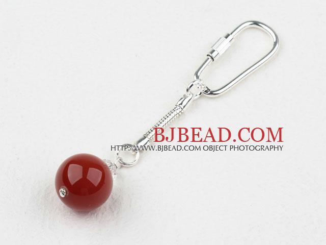 Simple Style Carnelian Key Buckle
