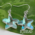 White with Colorful Austrian Crystal Starfish Earrings under $ 40