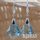 16mm Light Blue Color Baroque Austrian Crystal Earrings under $ 40