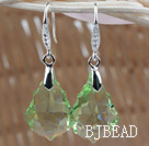 22mm Apple Green Color Baroque Austrian Crystal Earrings