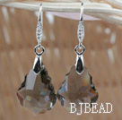22mm Gray Color Baroque Austrian Crystal Earrings under $ 40