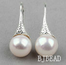 Classic Design White Freshwater Pearl Earrings under $ 40