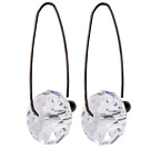 2014 Summer Design Earth Shape Clear Austrian Crystal Earrings With Long Hook