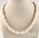 charming 15.7  inches 12*18mm peanut shape natural white color  pearl necklace under $ 40
