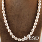 favourite 15.7 inches 12-13mm natural white baroque pearl beaded necklace