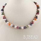 exquisite  15.7 inches 8-9mm dyed fresh water multi color pearl necklace