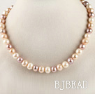 favourite 16.1 inches 9-10mm natural colors round pearl beaded necklace