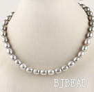 exquisite 15.7 inches 8-9mm gray color baroque pearl necklace under $ 40