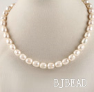 favourite 15.7 inches 11-12mm natural white baroque pearl beaded necklace under $ 40