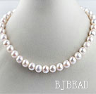 favourite 15.7  inches 11-12mm natural white round pearl beaded necklace