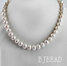 exquisite  15.7 inches 9-10mm natural white color pearl beaded necklace under $ 40