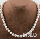 Natural White 8.5-9mm A Grade Freshwater Pearl Beaded Necklace under $ 40
