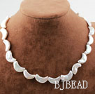 Moon Shape White Rebirth Pearl Necklace with Heart Toggle Clasp