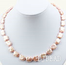 Butterfly Shape Pink Rebirth Pearl Necklace with Heart Toggle Clasp