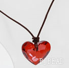 Classic Design Red Color Heart Shape Austrian Crystal Pendant Necklace under $ 40
