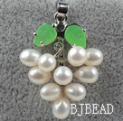 5-6mm White Freshwater Pearl Leaf Shape Pendant ( No Chain )