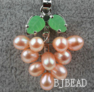 Natural Pink Freshwater Pearl Tree Shape Pendant (No Chain)
