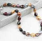 Classic Design Irregular Shape Multi Color Pearl Necklace