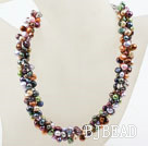 New Design Multi Strand Multi Color Freshwater Pearl Necklace