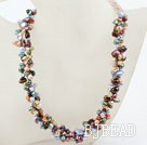New Design Multi Strand Multi Color Rebirth Pearl Necklace