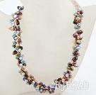 New Design Multi Strand Multi Color Rebirth Pearl Necklace under $ 40