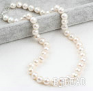 Classic Design 9-10mm White Freshwater Pearl Beaded Necklace