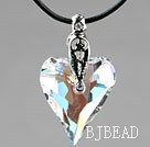 Simple Style 27mm White with Colorful Austrian Crystal Heart Pendant Necklace under $ 40