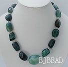 19 inches rainbow fluorite stone necklace with moonlight clasp