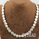 Heart Shape Rebirth Pearl Necklace with 925 Silver Heart Shape Toggle Clasp