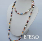 long style dyed pearl necklace
