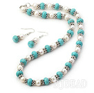 pearl turquoise set
