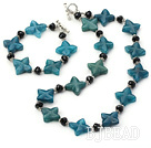 trendy black crystal and blue jade sets