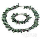 6*16mm green gem set with S shape extendable chain