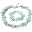 6*16mm aquamarine set with S- shape extendable chain