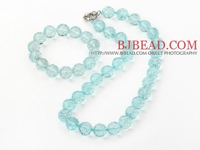 crystal necklace/bracelet set