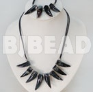 black pepper shape agate necklace bracelet set