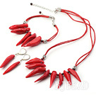 tribal jewelry shinning red coral sets