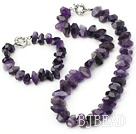 faceted natural amethyst sets