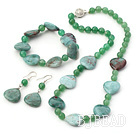 natural aventurine gem set